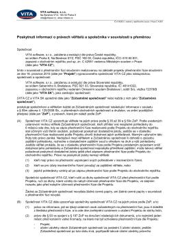 Poskytnutí informací o právech věřitelů a