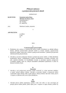 Příkazní smlouva o poskytování právních služeb