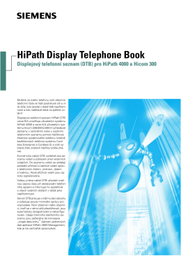 HiPath Display Telephone Book Displejový