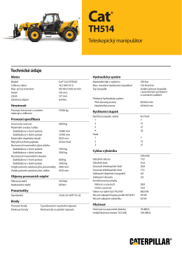 Spec Sheet for Cat TH514 Telehandler, H7HB3985-02