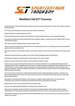 Návštěvní řád SCT Trnovany