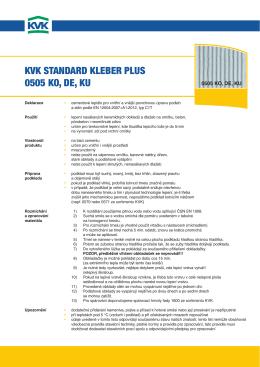 KVK STANDARD KlebeR pluS 0505 Ko, De, Ku