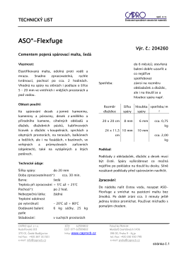 ASO®-Flexfuge - CAPRO spol. s ro
