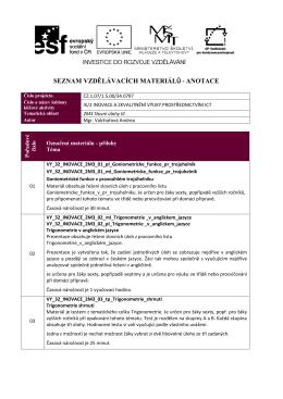 2M3 Slovní úlohy III.