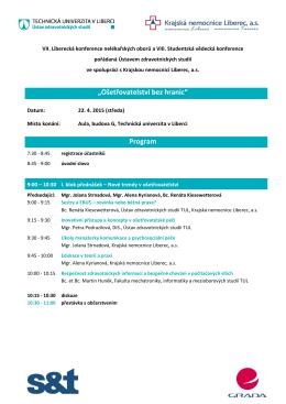 Program konference - Ústav zdravotnických studií