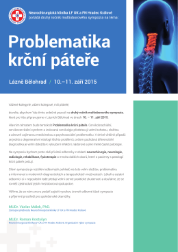 Pozvánka na kongres - MEDICAL & PHARMA PROMOTION, sro