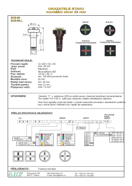 UKAZATELE STAVU montážní otvor 22 mm UKAZATELE STAVU