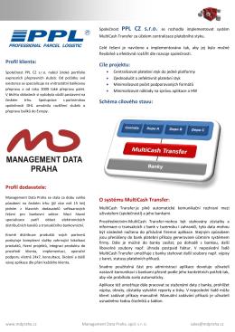 Profil klienta: Profil dodavatele: Cíle projektu: Schéma cílového