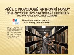 Péče o novodobé knihovní fondy