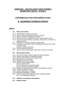 hořovice – revitalizace části rybníka dražovská velká – etapa 2
