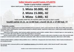 Velká Vánoční soutěž hotelu ATLANTIS Tipněte si počet kuliček v