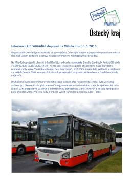 Informace k hromadné dopravě + jízdní řád