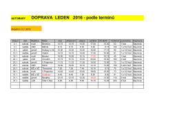 DOPRAVA LEDEN 2016