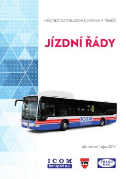 Jízdní řád od 1. 10. 2015 - Městská hromadná autobusová doprava