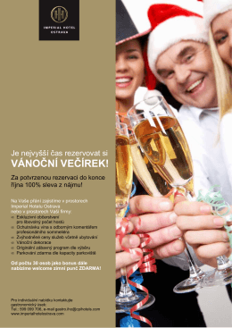 vánočního večírku - Imperial Hotel Ostrava