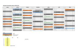Přehledový kalendář 2015