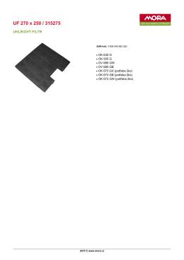Produktový list UF 270 x 250 / 315275