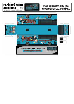 Papírový model autobusu Divadla S+H
