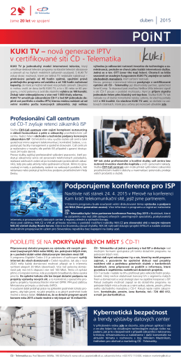 Newsletter POiNT duben 2015 - ČD