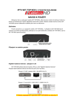 Cablebox HD manual