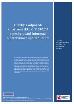 Otázky a odpovědi k nařízení (EU) č. 1169/2011 o poskytování