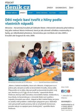 ZŠ a MŠ - Děti nejvíc baví tvořit z hlíny podle vlastních …
