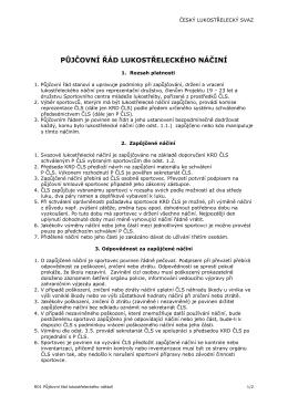 R01 Půjčovní řád lukostřeleckého náčiní