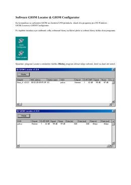 Software GIOM Locator & GIOM Configurator