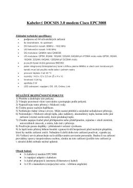 Kabelový DOCSIS 3.0 modem Cisco EPC3008
