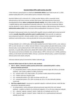 Kontrolní hlášení DPH a další novinky roku 2016 V této