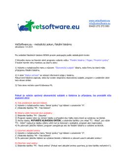 VetSoftware.eu metodický pokyn, fiskální tiskárny