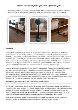 Vyvolávací systém CS0900 (v. 2015)