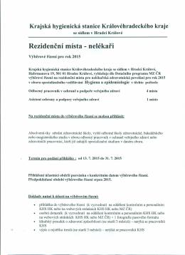 Rezidenční místa - nelékaři - Krajská hygienická stanice