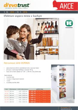 Efektivní úspora místa v kuchyni