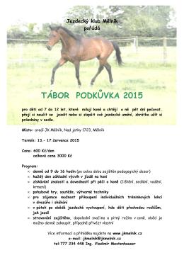 TÁBOR PODKŮVKA 2015 - Jezdecký klub Mělník
