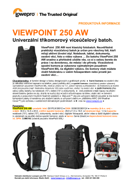 Produktový list ViewPoint 250 AW