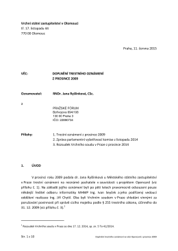 Vrchní státní zastupitelství v Olomouci tř. 17. listopadu 44 770 00
