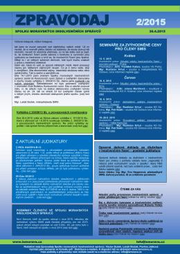 ZPRAVODAJ 2/2015 - Spolek moravských insolvenčních správců