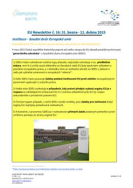 EU Newsletter_duben