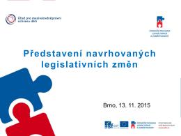 Představení podnětů pro legislativní změny