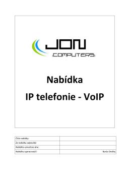 Nabídka a ceník VoIP volání