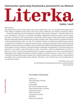 leden - Památník písemnictví na Moravě