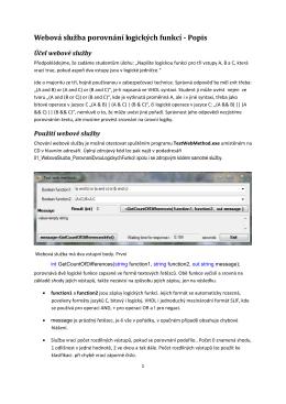 Webová služba porovnání logických funkcí