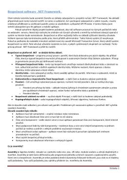 Bezpečnost software .NET Framework .