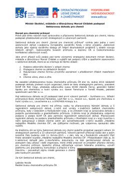 Ministr školství, mládeže a tělovýchovy Marcel Chládek podepsal
