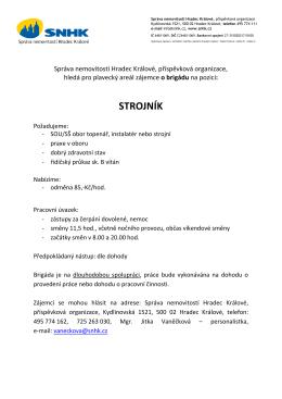 STROJNÍK - Správa nemovitostí Hradec Králové, po