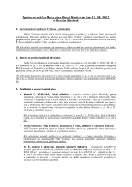 Zpráva z rady obce č. 11/2015
