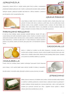 caciocavallo gorgonzola grana padano mozzarella