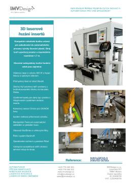 3D laserové řezání insertů