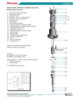 Příručka uživatele In-line Actuator - Mold